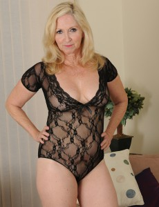 57 Year Old Annabelle from  Onlyover30 Looking  Hot in Her Ebony Panties