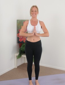 50 Year Old  Blond  Wifey Jenna Covelli Practicing  Naked Yoga