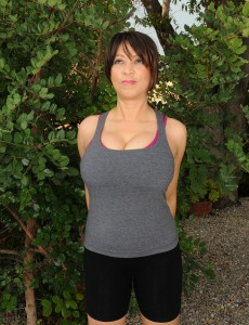 Super Naughty 50 Year Old Lola from  Onlyover30 Spreads and  Takes off Outdoors