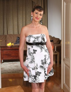 Elegant and  Older Babe Juditta Shows off a Spectacular Fifty Year Old Body
