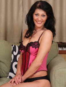 52 Year Old Kitty S Showcasing off Her  Older Body in Hot Pinkish Underware