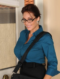 Huge-boobed  Brown Haired Charlee Follow  Opens Her Wet Cunny After Work