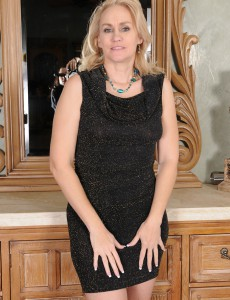 46 Year Old Emerald Rose from  Onlyover30 Slides out of Her Black Dress