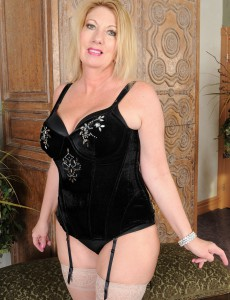 Sexy 53 Year Old Summer Sands Slides off Her Slinky Black Panties
