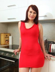 Super Horny Lengthy Haired Vera Delight Stretches Her Gams Found on the Kitchen Counter