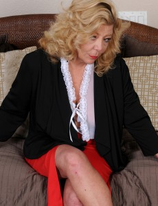 Blond 52 Year Old Karen Summer Slides out of Her Work Clothes