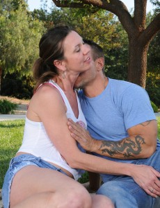 Naughty  Older Jizzabelle Acquires Some Outdoor Action with Her Hung Guy Pal