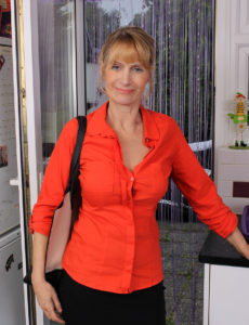 Aged Babe Jane B Muscular in Red